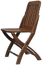 LQ Chaise pliante en bois massif chaise à manger