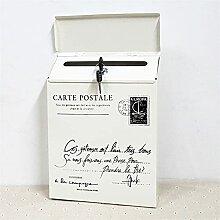 LQJin Serrure Fer Boite aux Lettres Vintage