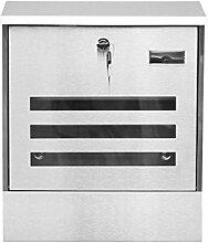 LQZYTY Boîte aux lettres murale en acier
