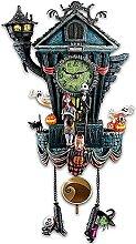 Lrocaoai Coucou Horloge Murale Halloween Horloge