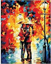 LSDEERE Peinture par Chiffres Kits Couple sous la