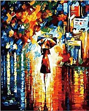 LSDEERE Peinture par Chiffres Kits Vue arrière de
