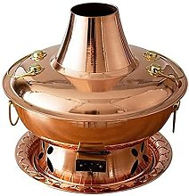 LSF Marmite de Mongolie en cuivre pur, étanche et