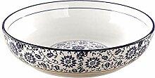 LSHOME Céramique Soupe Bol Grand Porcelaine