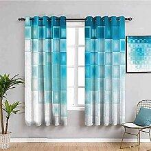 LTHCELE Rideaux Occultant Chambre - Bleu Mode