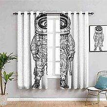 LTHCELE Rideaux Occultant Chambre - Noir créatif