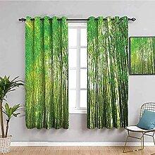 LTHCELE Rideaux Occultant Chambre - Vert forêt