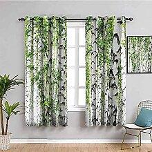 LTHCELE Rideaux Occultant Chambre - Vert Plantes