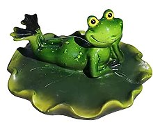 LucaSng Mini bassin décoratif grenouille sur