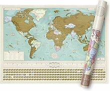 Luckies Carte du Monde A GRATTER(en Francais) -