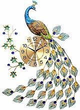 LUCKY-Blumenregal Quartz Horloge Murale Paon