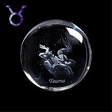 Lucky House 60 MM 3D 12 Zodiac Étoile Cristal