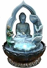 Lucky Objects Bouddha intérieure Fontaine Résine