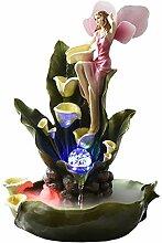 Lucky Objects Bureau Fontaine résine Fleur