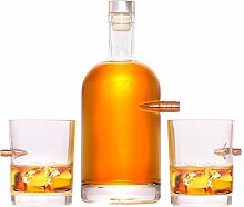 Lucky Shot Lot de 50 carafes à whisky 308 verres