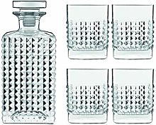 Luigi Bormioli Mixology Elixir Lot de 5 carafes et