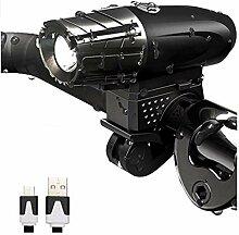 LUJIAN Lumière De Vélo Rechargeable 1500MA