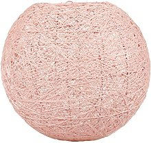 LUM&CO Abat-jour suspendu en forme de boule, rose,