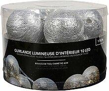 Lum & Co Guirlande décorative lumières, argent,