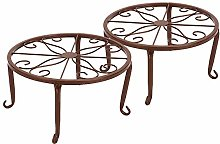 Lumemery 2 pcs Heavy Duty Plant Stands, Forged Pot