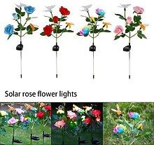 Lumière de fleur Rose solaire imperméable 7