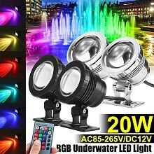 Lumière de fontaine imperméable à LED 20W,