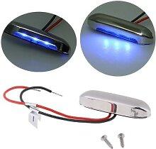 Lumière de marche bleue en acier inoxydable, 12V,