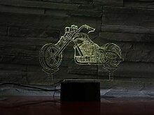 Lumière De Nuit 3D Moto Lampe 3D Ampoule Led