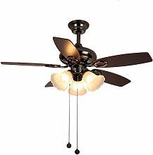 Lumière de ventilateur de plafond rétro Living