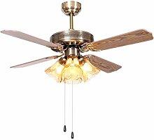 Lumière de ventilateur de plafond rétro Plafond