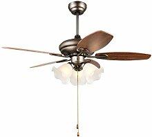 Lumière de ventilateur de plafond rétro Séjour