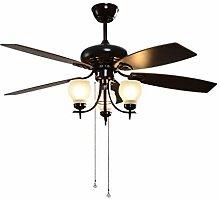 Lumière de ventilateur de plafond rétro Simple