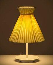 Lumière Jaune, Abat-jour En Tissu, Lampe De Table