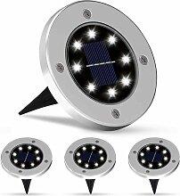 Lumière solaire extérieure 8 LED 4 pcs