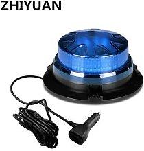 Lumière stroboscopique rotative LED bleue