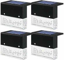 Lumières de pont solaires 4 pièces, lumières