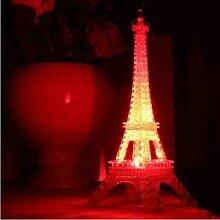 Lumières décoratives tour Eiffel, veilleuse pour