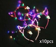 Lumières LED, bandeau 10PCS avec lumières,