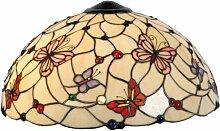 LumiLamp 5LL-5382 Tiffany Abat-jour en verre Motif
