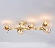 Luminaire De Plafond Moderne, Lustre en Fer Forgé