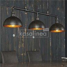 Luminaire industriel noir et bronze VERTIGO