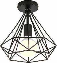 Luminaire plafonnier industriel forme diamant 25cm