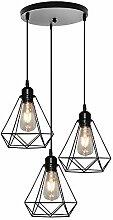 Luminaire Suspension Design industriel 3 Lampes