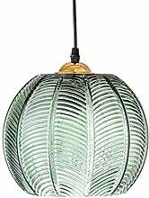 luminaire Suspension en verre abat-jour vert