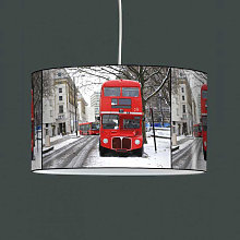 Luminaire suspension Londres bus rouge