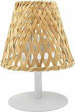 Lumisky - Lampe de table abat jour bambou IBIZA