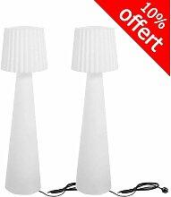 Lumisky - Lot de 2 lampadaires contemporains LADY