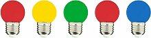 Lumisky - Lot de 5 ampoules LED E27 multicolore