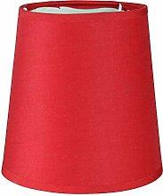 Lumissima Abat-jour de forme cylindrique rouge