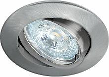 LUNAR 230 CX-Encastre GU10, rond, basc., nickel,